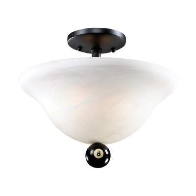 Weehawken 2-Light Semi-Flush Mount