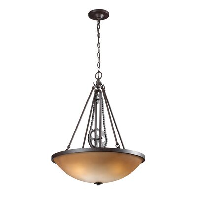 Dipalma 3-Light Inverted Pendant Finish: Vintage Rust