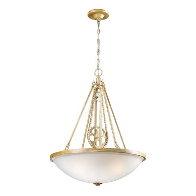 Dipalma 3-Light Inverted Pendant Finish: Bleached Wood