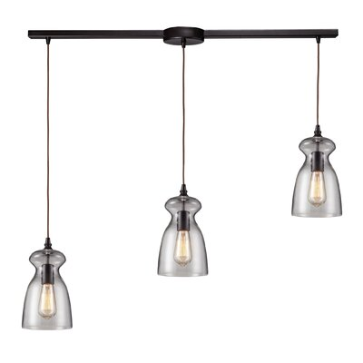 Pettey 60W 3-Light Pendant with Clear Glass