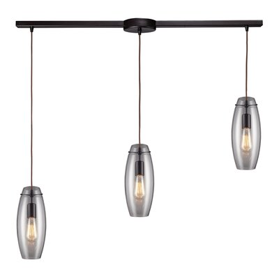 Pettey 3-Light Pendant with Clear Glass