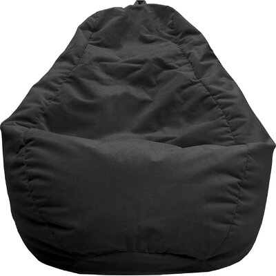 Fairview Bean Bag Lounger Upholstery: Black