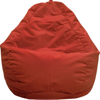 Fairview Bean Bag Lounger Upholstery: Flame Red
