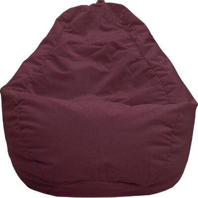 Fairview Bean Bag Lounger Upholstery: Wine