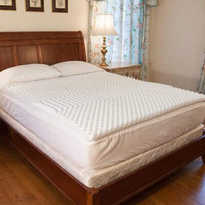 Convoluted 1.5 Memory Foam Mattress Pad Size: Queen