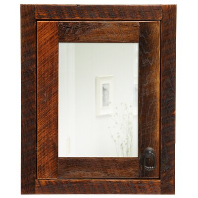 Barnwood 18 x 22 Recessed Medicine Cabinet Orientation: Right
