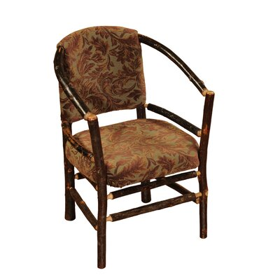 Hickory Hoop Barrel Chair  Upholstery: Caribou