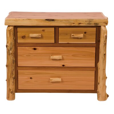 Premium Cedar 4 Drawer Dresser Color: Traditional