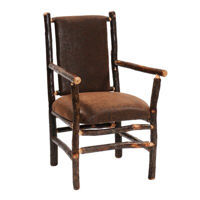 Hickory Arm Chair Upholstery: Black