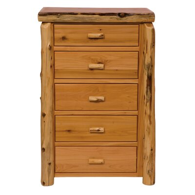 Premium Cedar 5 Drawer Lingerie Chest Color: Traditional