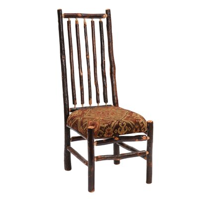 Hickory Side Chair Upholstery: Dark Red