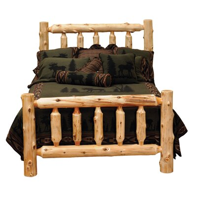 Traditional Cedar Log Slat Bed Color: Vintage Cedar, Size: King