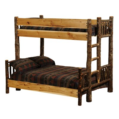 Hickory Twin over Queen Bunk Bed Color: Rustic Maple