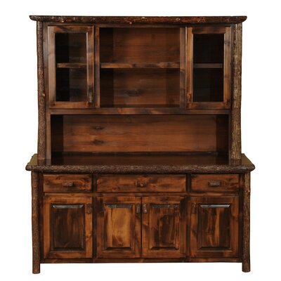 Hickory China Cabinet Color: Rustic Maple