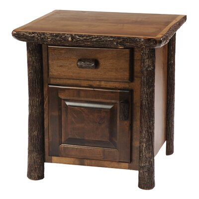 Hickory 1 Drawer Nightstand Color: Rustic Alder