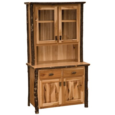 Hickory China Cabinet Finish: Rustic Alder