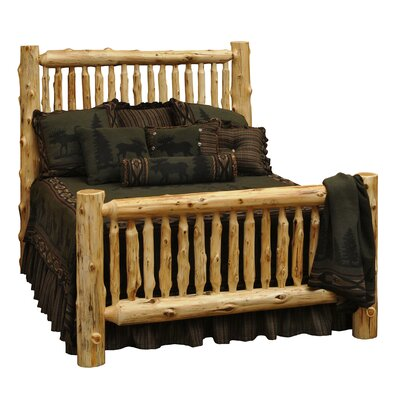 Traditional Cedar Log Panel Bed Size: King, Color: Traditional