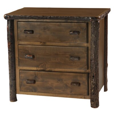 Hickory 3 Drawer Chest Finish: Rustic Alder