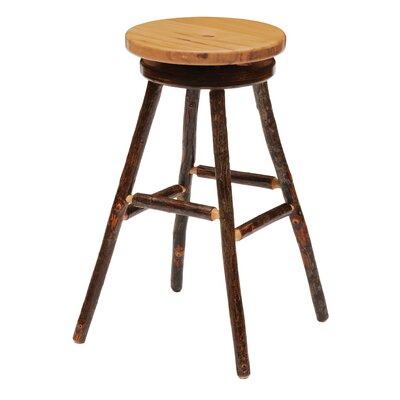 Hickory 30 Swivel Bar Stool Upholstery: Harness