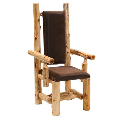 Cedar Upholstered Dining Chair Color: Colt Coffee