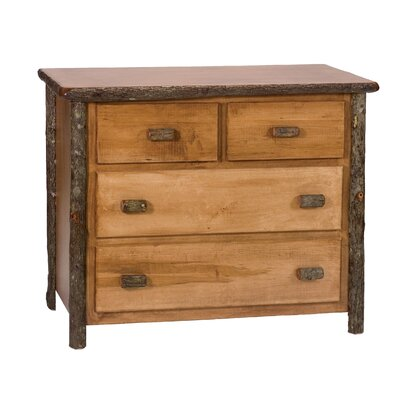 Hickory 4 Drawer Dresser Color: Rustic Maple