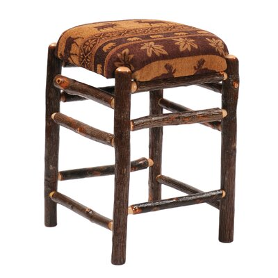 Hickory 30 Bar Stool Upholstery: Black