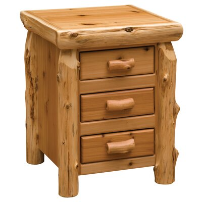 Cedar 3 Drawer Nightstand Color: Vintage