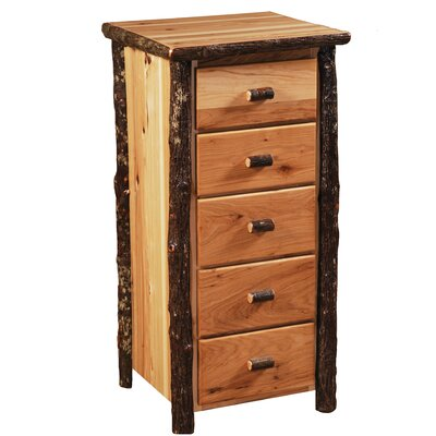 Hickory 5 Drawer Lingerie Chest Color: Rustic Maple