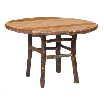 Hickory Dining Table Color: Rustic Alder with Standard, Size: 48 W x 30 H