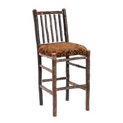 Hickory 24 Bar Stool Upholstery: Black