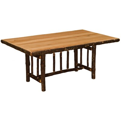 Hickory Rectangle Dining Table Color: Rustic Maple with Standard, Size: 84 W x 42 D x 30 H