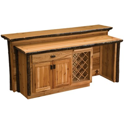Hickory Home Bar Finish: Traditional
