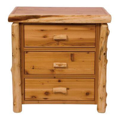 Premium Cedar 3 Drawer Chest Color: Traditional
