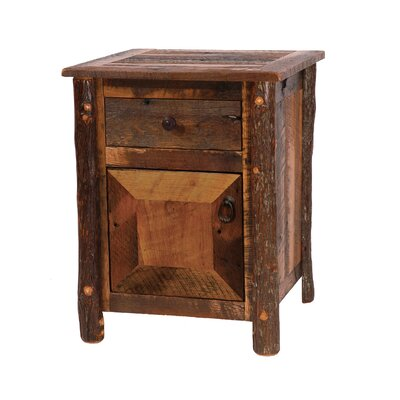 Barnwood 1 Drawer Nightstand Finish: Hickory