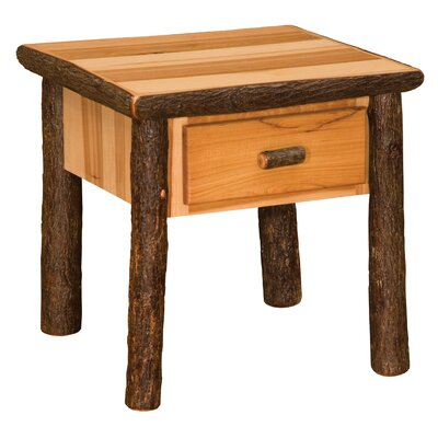 Hickory End Table Color: Rustic Alder