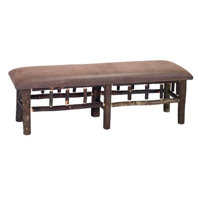 "Hickory Leather Bedroom Bench Size: 18"" H x 48"" W x 17"" D, Color: Sierra Brown"