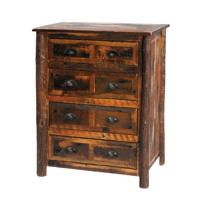 Premium Barnwood 4 Drawer Chest Color: Hickory
