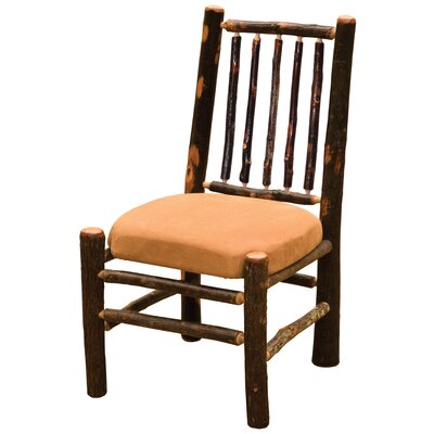 Hickory Side Chair Upholstery: Caribou