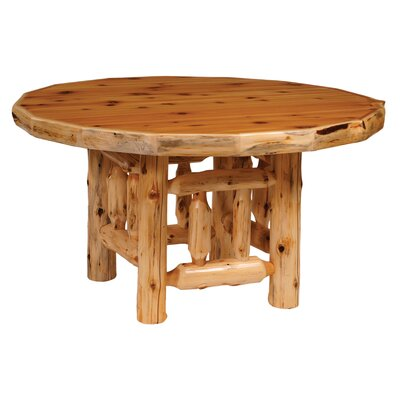 Traditional Cedar Log Round Dining Table Color: Standard, Size: 54 W x 30 H
