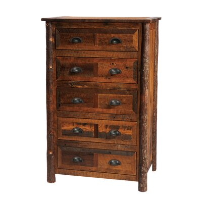 Value Barnwood 5 Drawer Chest Color: Hickory
