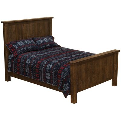 Frontier Platform Bed Size: Double, Color: Red Canyon