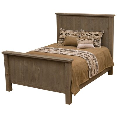 Frontier Platform Bed Size: Double, Color: Driftwood