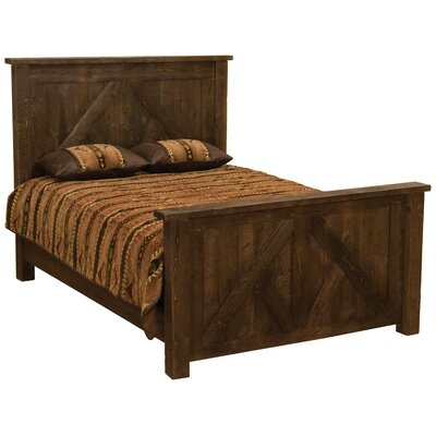 Frontier Panel Bed Size: Double, Color: Midnight