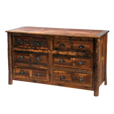 Premium Barnwood 6 Drawer Double Dresser Color: Barnwood