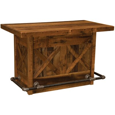 Barnwood Home Bar Finish: Laminate