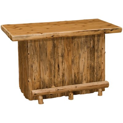 Cedar Home Bar with Armor Finish