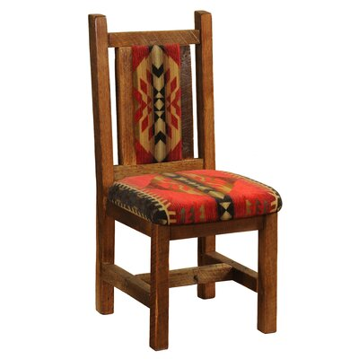 Barnwood Side Chair Upholstery: Dark Red