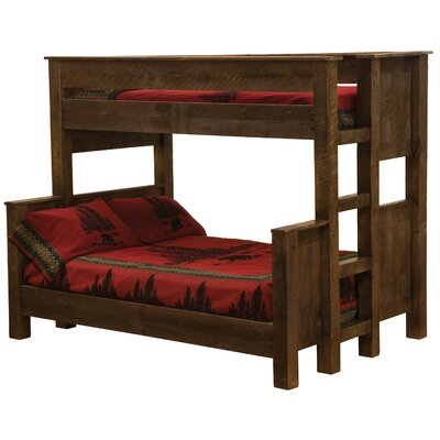 Frontier Bunk Bed Finish: Barn Brown, Size: Double over Double