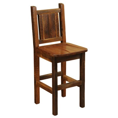 Barnwood 24 Bar Stool Upholstery: Dark Red