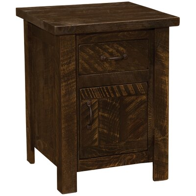 Frontier 1 Drawer Nightstand Color: Red Canyon